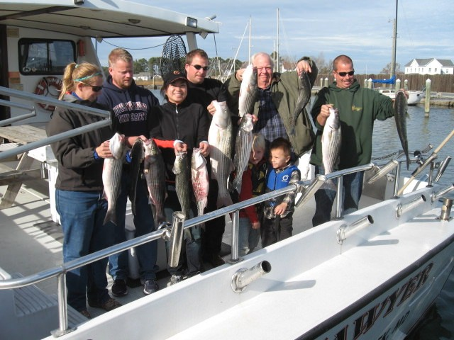 Chesapeake Bay Rockfish Charters From Maryland's Eastern Shore!