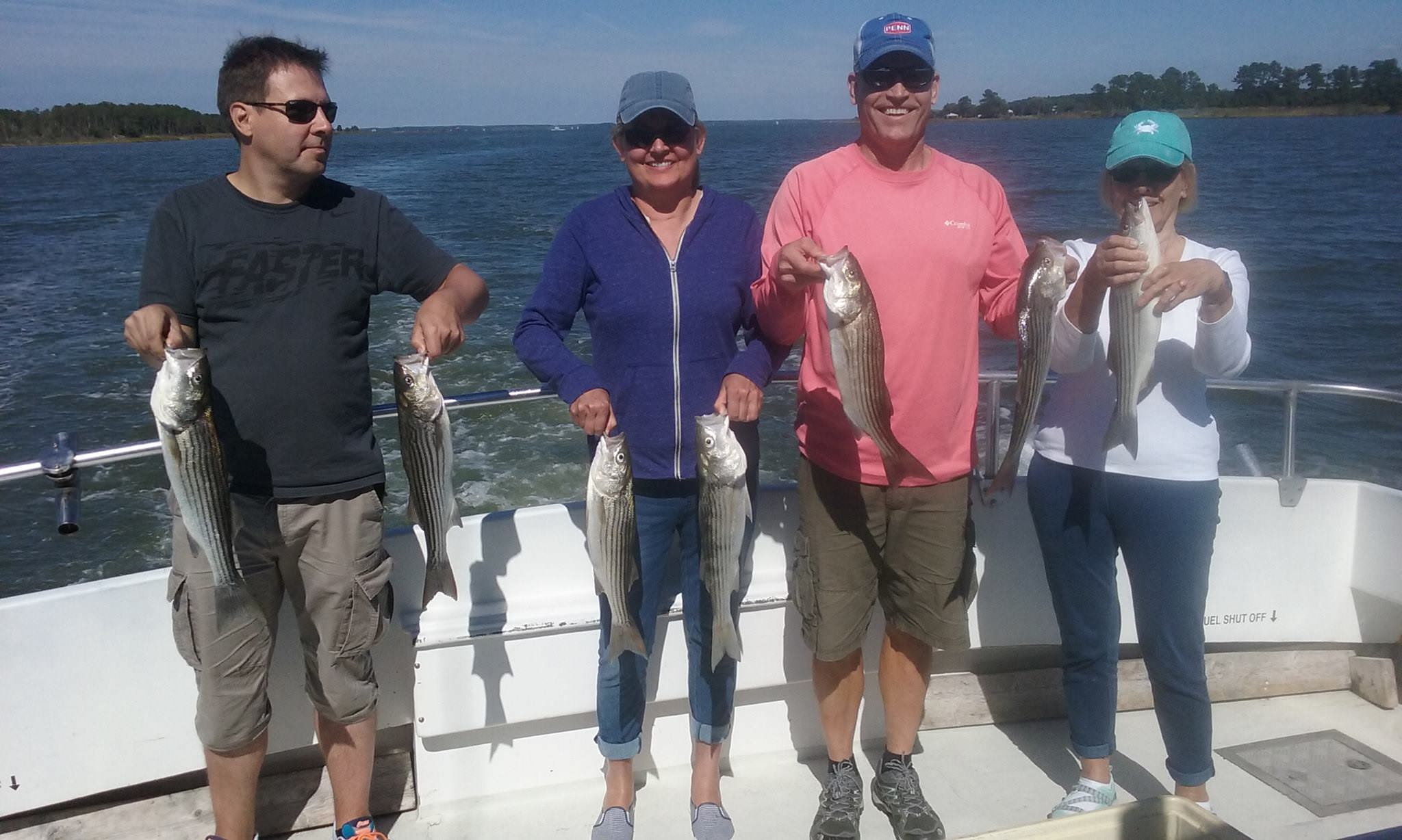 Another Fine Day Of Chesapeake Bay Fishing Aboard The Sawyer!